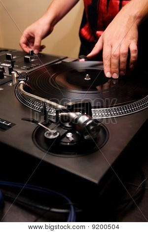 Hip-hop Dj Scratching The Vinyl