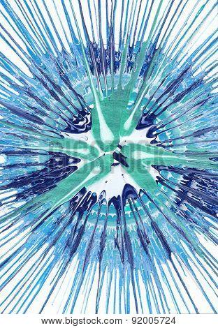 Abstract Epressionism Painting - Aqua Burst