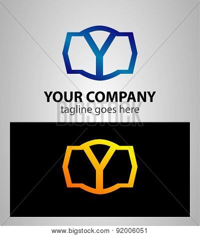 Letter y logo icon design template elements. Vector color sign