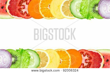Color Fruit And Vegetable Slices