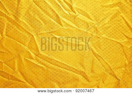 Gold Creased Fabric Silk For Background