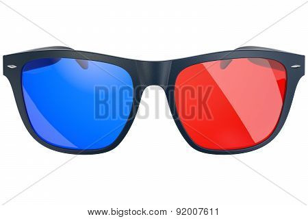 Stereo glasses on white background