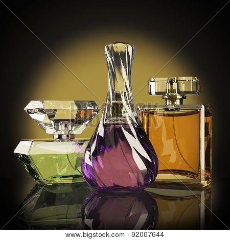 Group Luxury Parfume Bottle