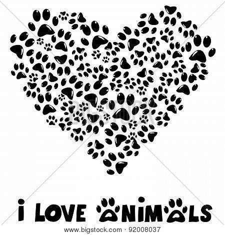 I Love Animals Card