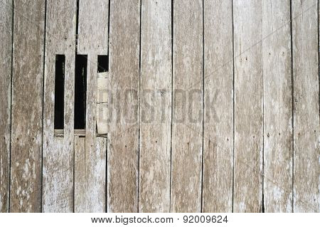 Little Window With Wooden Wall Texture
