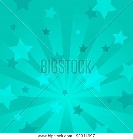Abstract background with stars and rays