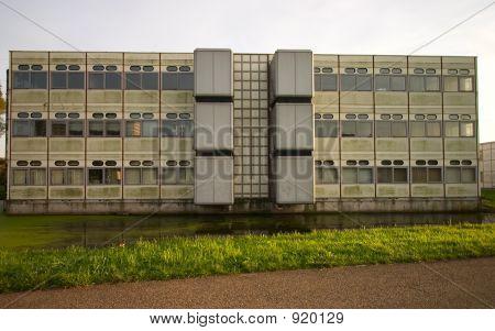 Stumpfe Bürogebäude