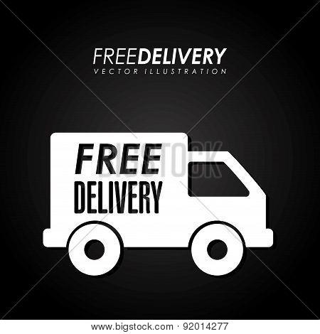 Delivery design over black background vector illustration