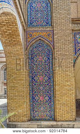 Golestan Palace tiles detail