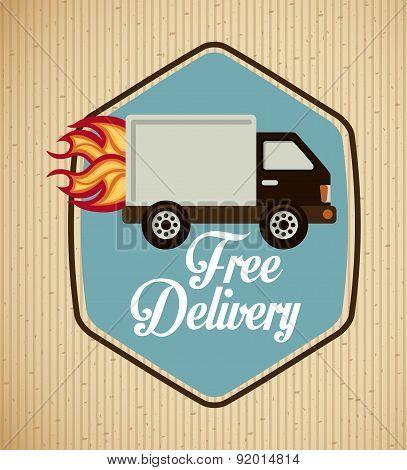 Delivery design over beige background vector illustration