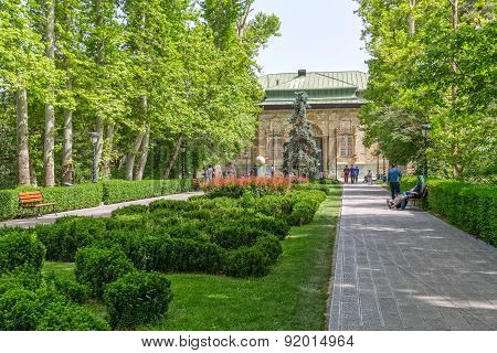 Tehran Green Palace Museum in the park