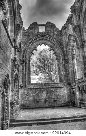 Lincluden Collegiate Church - Inside Monochrome Hdr