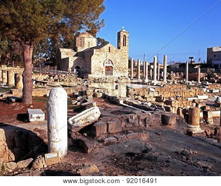 Chrysopolitissa church, Paphos.