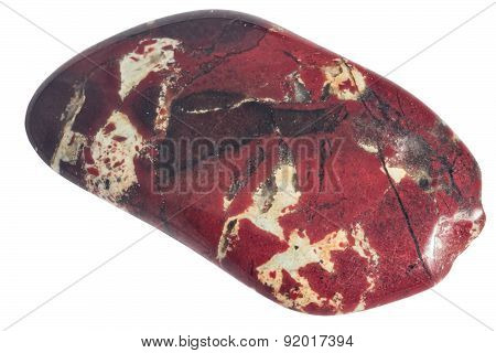 Scratched Pebble Of Red Jasper