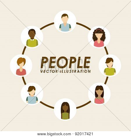 People design over beige background vector illustration