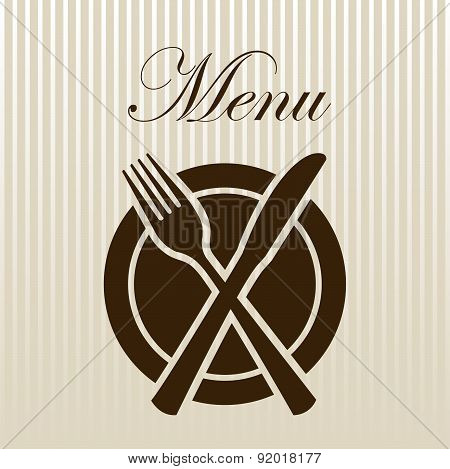 Menu design over beige background vector illustration