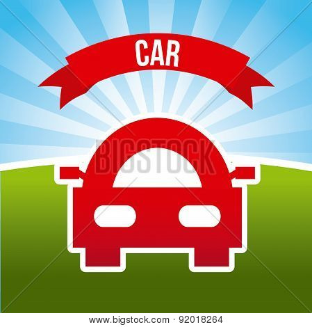 Transport design over landscape background vector illustration