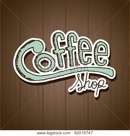Coffee design over brown background vector illustration