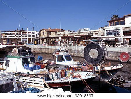 Paphos harbour, Cyprus.