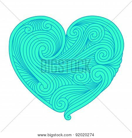 Decorative Teal Heart