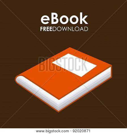 eBook design over brown background vector illustration