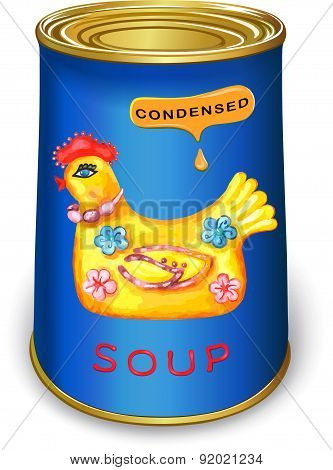 Can of condensed Magic chicken soup