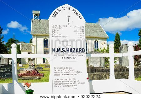 H.m.s. Hazard Memorial, Russell