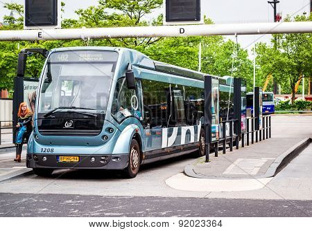 Bus Rapid Transit (phileas) In Eindhoven Central Station