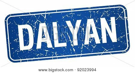 Dalyan Blue Stamp Isolated On White Background