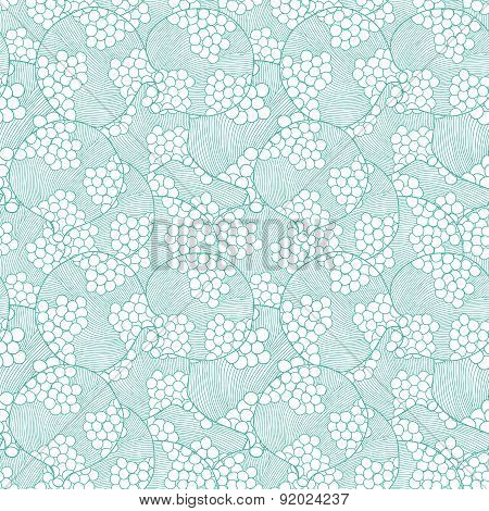 Vector abstract bubbles texture seamless pattern