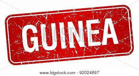 Guinea Red Stamp Isolated On White Background