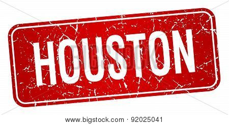 Houston Red Stamp Isolated On White Background