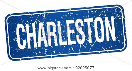Charleston Blue Stamp Isolated On White Background
