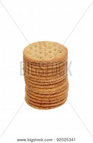 stack of whole wheat crackers