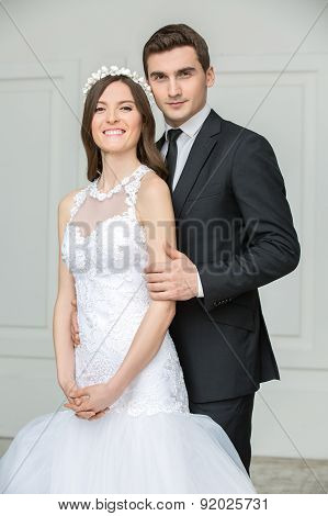Beautiful fashion bridal couple