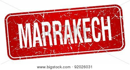 Marrakech Red Stamp Isolated On White Background