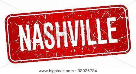 Nashville Red Stamp Isolated On White Background