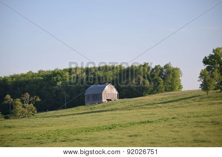 barn on a hill