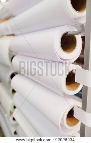 Paper roll in a printshop