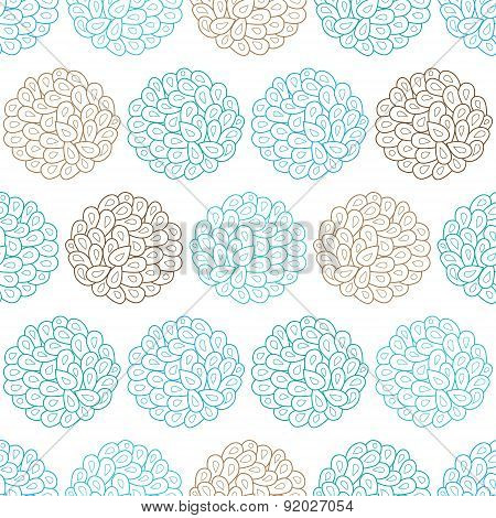 Vector drops bubbles seamless pattern