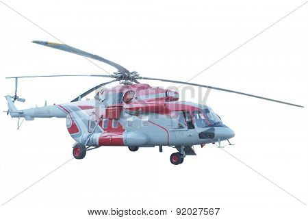 The image of helicopter