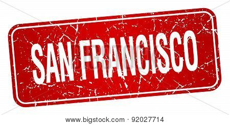 San Francisco Red Stamp Isolated On White Background