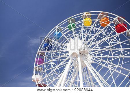 BARCELONA, SPAIN - MAY 2, 2015: Ferris-wheel in the Amusement Park on Mount Tibidabo in Barcelona, Catalonia, Spain