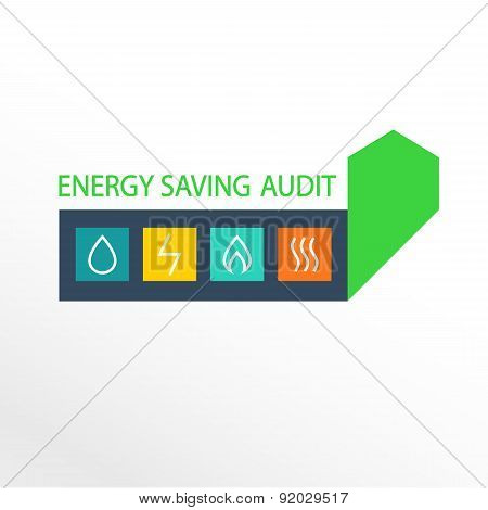 Vector logo, energy efficiency.