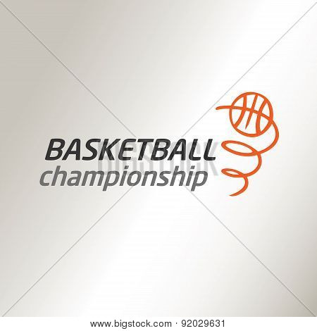 Template vector logo for the championship in basketball.
