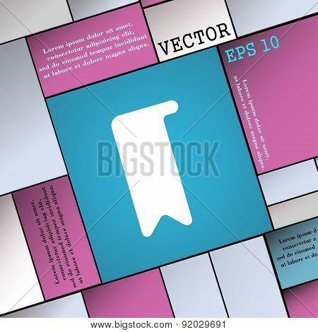 Bookmark Icon Sign. Modern Flat Style For Your Design. Vector