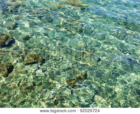 green transparent sea