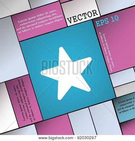 Favorite Star Icon Sign. Modern Flat Style For Your Design. Vector