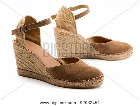 Pair Of Brown Suede Women's Shoes