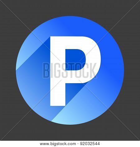 Car parking flat icon sign symbol logo